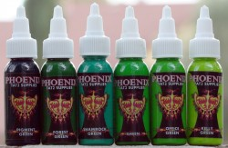 Phoenix Green Color Set (6 Colors) Inks