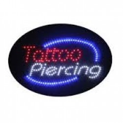 Tattoo-Piercing Lighted Sign