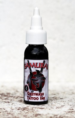 Tattoo Ink :: Dark Grey Wash Tattoo Ink :: 1 Oz :: Samurai
